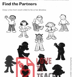 Shadow Matching Worksheets   LoveToTeach.org [ 1195 x 900 Pixel ]
