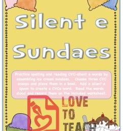 Silent 'E' Sundaes (CVCe Activity)   LoveToTeach.org [ 1166 x 900 Pixel ]