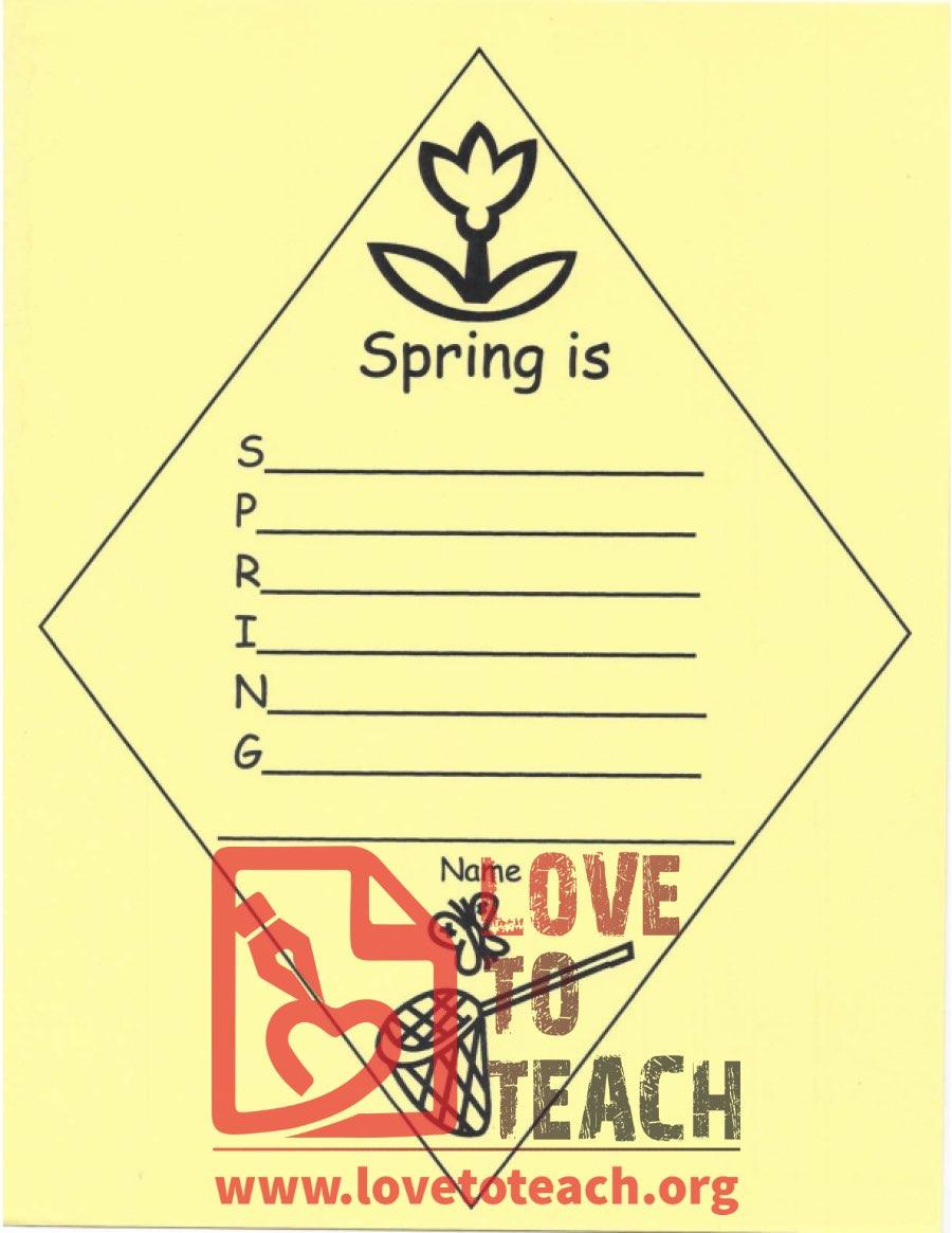 medium resolution of Spring Is - Acrostic Poem   LoveToTeach.org