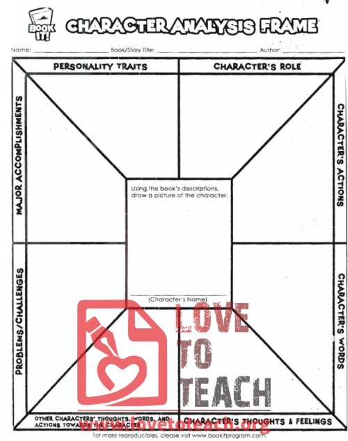 small resolution of Character Analysis Worksheet   LoveToTeach.org
