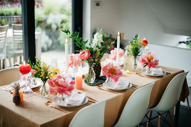 Deco Table Tropical : inspiration d co de table tropical pour prolonger l t love tralala ~ Teatrodelosmanantiales.com Idées de Décoration