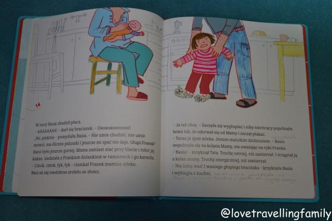 """Prawdziwe książki dla dzieci.""""Basia i nowy braciszek"""" Zofia Stanecka, Marianna Oklejak"""