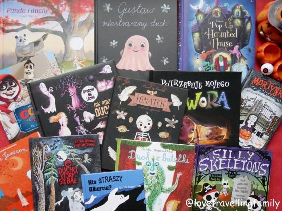 Książki o duchach i potworach. Halloween, Dia de Muertos i Wszystkich Świętych w książkach dla dzieci.