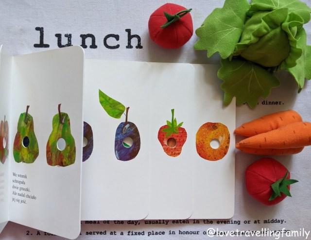 """książki dla maluchów """"Bardzo głodna gąsienica"""" XL Eric Carle"""
