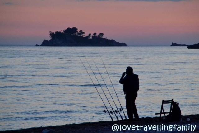Montenegro coast fisherman