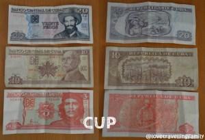 CUP, Cuban money