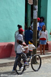 Family on a bicycle, Trinidad