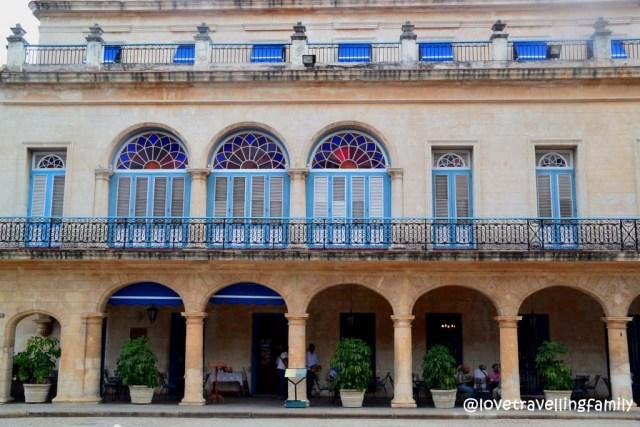 Facade of Hotel Santa Isabel Havana
