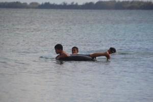 Children playing, Playa Larga, Cuba