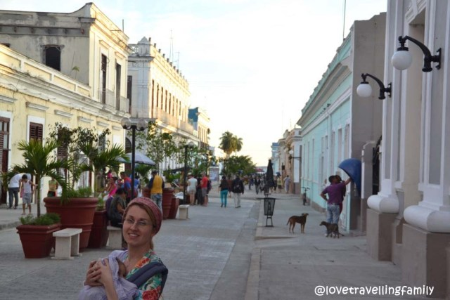Some random street, Love travelling family in Cienfuegos, Cuba