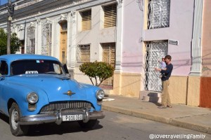Love travelling family @ Streets in Cienfuegos, Cuba