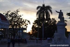 Sun set in Parque Jose Martí, Cienfuegos, Cuba
