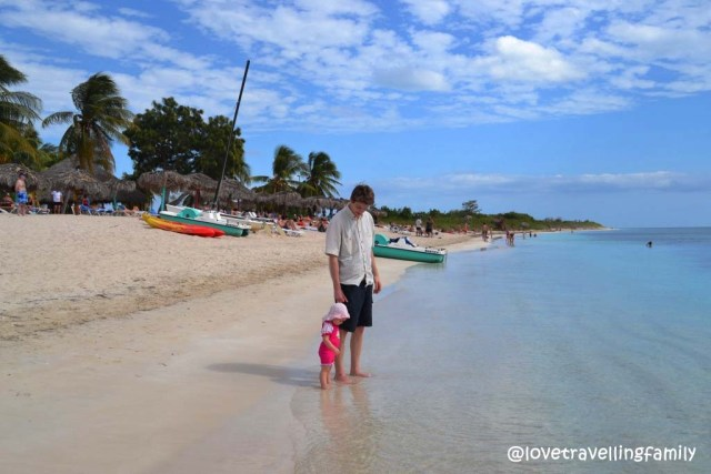 Love travelling family @ Playa Ancon, Trinidad, Cuba
