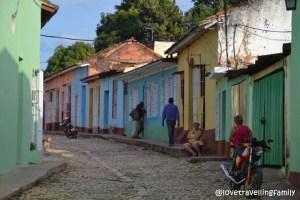 Old town streets in Trinidad, Cuba