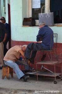 Shoeshiner, Trinidad, Cuba