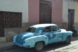 Oldtimer on Santa Clara's street, Cuba