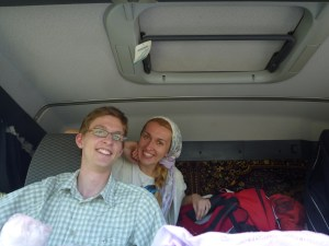 In a truck on the way to the border with Iran, Love travelling family