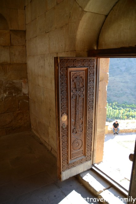 Carved door, Noravank, Armenia