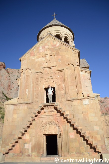 The two-storey church dedicated to the Mother of God, Noravank, Armenia, Love travelling family