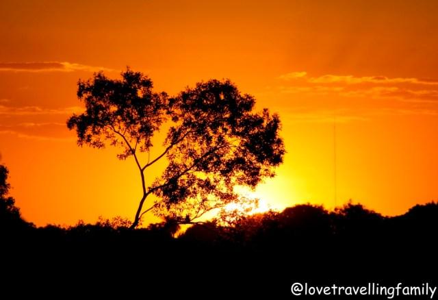 Sunset in Puerto Iguazú, Argentina