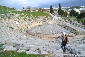 Theatre of Dionysus, Athens, Greece, Love travelling family