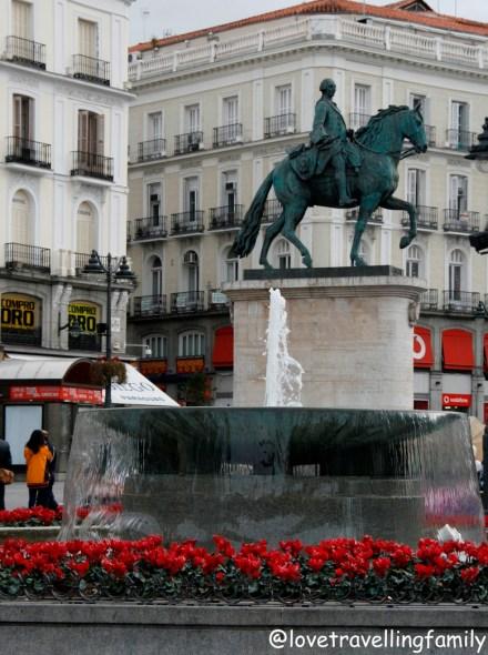 Carlos III equestrian statue, Madrid, Spain