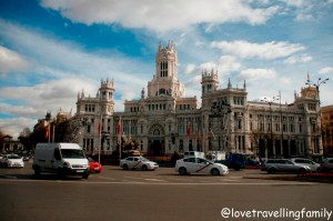 Cybele Palace, the Plaza de Cibeles, Gran Via, Madrid, Spain