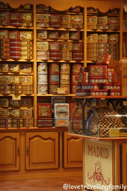 Souvenir shop in Madrid, Spain