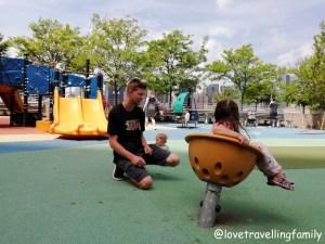 Gantry Plaza State Park Rainbow Playground, Love travelling family