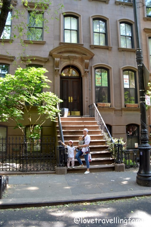 Love travelling family at Carrie Bradshaw's Apartment West Village at 66 Perry Street
