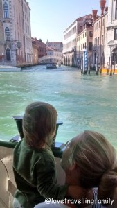 On Vaporetto Venice and Italy with kids. Family travels Love travelling family