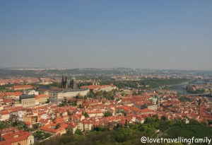 The view from The Petřín Lookout Tower, Prague