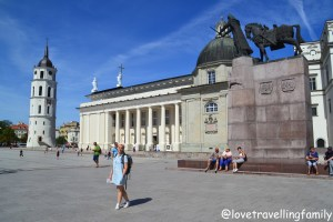 Vilnius Cathedral and Cathedral Square, Lithuania with kids Love travelling family