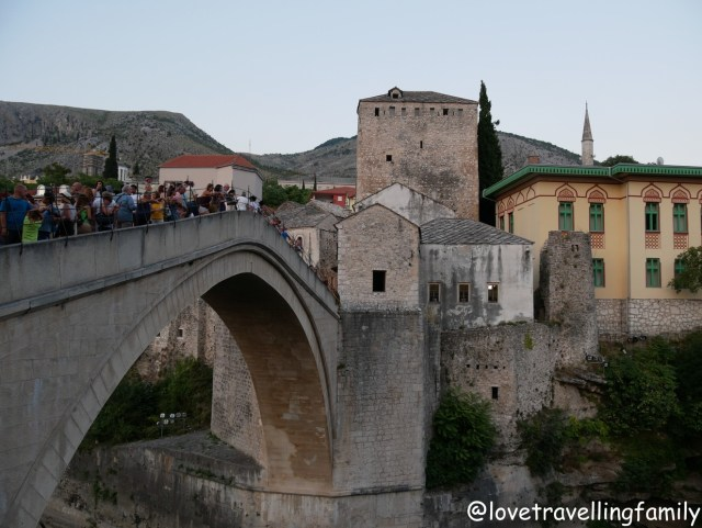Old Bridge and Cejvan-Cehaja`s Mosque Mostar, Bosnia and Herzegovina