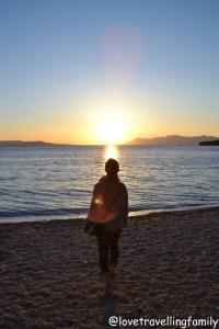 Standing in the sunset. Makarska, Makarska Riviera. Croatia. Family travel guide