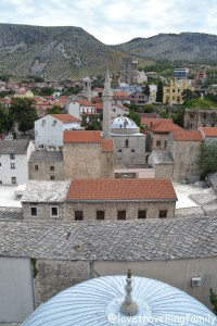 View from the minaret Koski Mehmed-Pasha Mosque, Mostar, Bosnia and Herzegovina