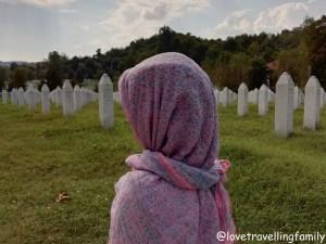 Srebrenica, Potočari Memorial Center and Cemetery. Srebrenica Genocide Memorial. Love travelling family