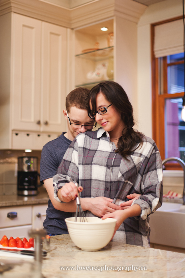 Intimate Engagement Session in a Kitchen  Cam  Sara