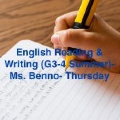Group logo of English writing & reading (G3-4 Summer)-Ms Benno-Thursday