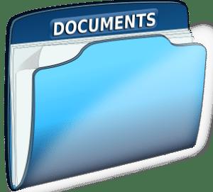 A folder containing gathered documents for K-1 Fiance(e) Visa USCIS Phase.