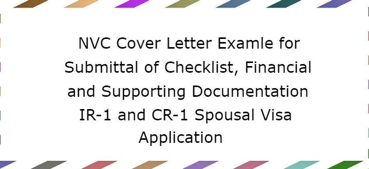 NVC Cover Letter For Financial/Supporting Documentation - LoveVisaLife