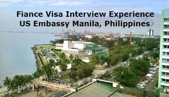 Fiance Visa Interview Experience US Embassy Manila