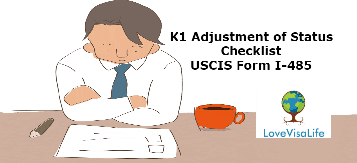 form i 485 k1  K11 Adjustment of Status Checklist USCIS Form I-11 ...