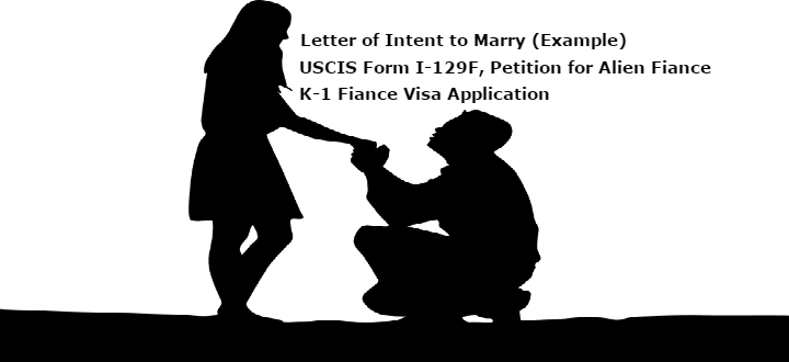 Intent To Marry Letter Example Uscis I 129f Petition For Alien Fiance K 1 Visa Application