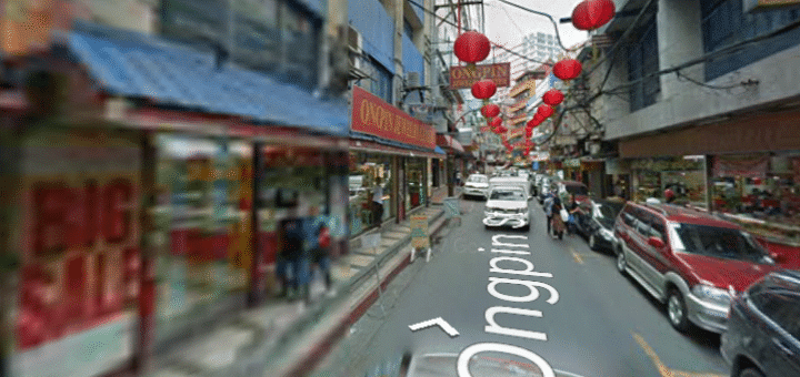 View of Ogpin Street in Manila, Philippines best place to buy engagement ring plus wedding rings in Manila.