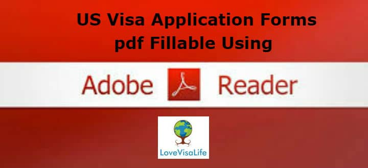 USCIS Visa Application Forms pdf Fillable Using Adobe