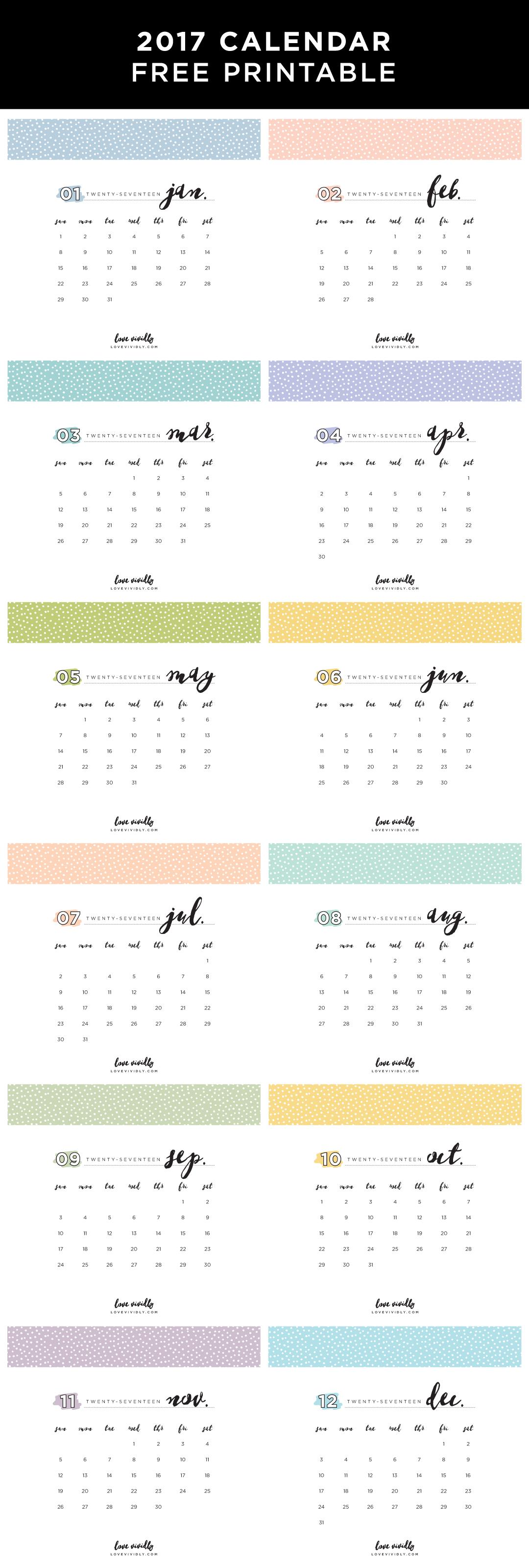 Calendar Free Printable Selling On Etsy