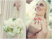 shabby chic silver and white wedding