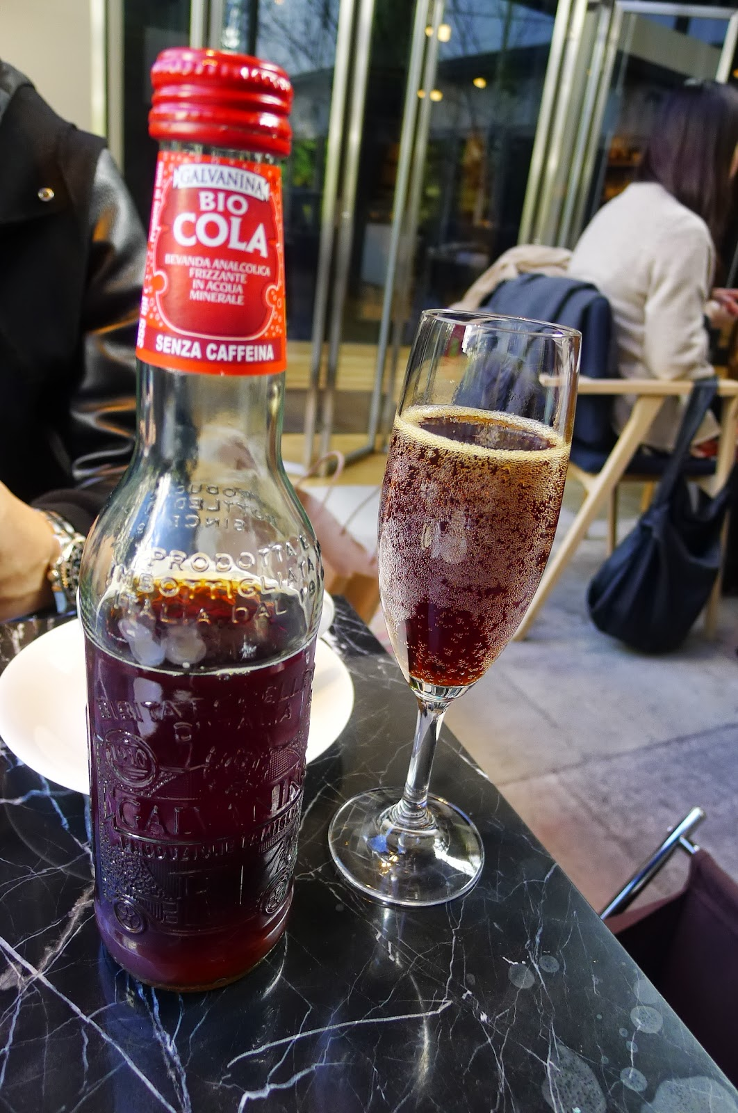 Organic coke in the Italian restaurant - I never knew Organic Coca cola existed!