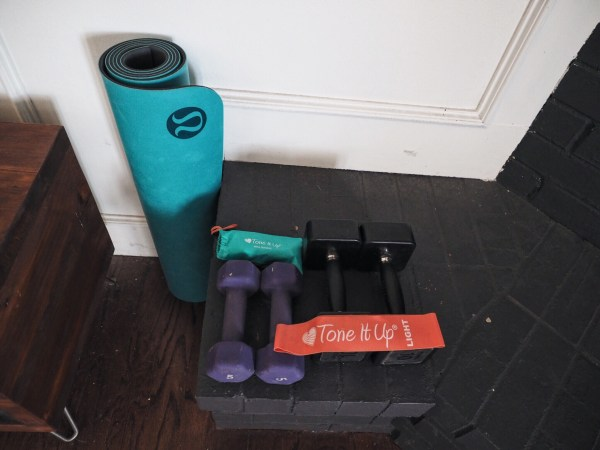 morning workout AM healthy love you more too north dallas blogger plano lifestyle blogger foodie fitness LuLu Tone It Up bands weights